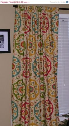 Awesome curtains.  These would look great in my dinning room.
