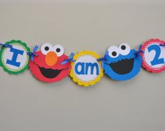 Sesame Street Signs, Sesame Street Party, Sesame Street Birthday, Birthday Party Decorations, Birthday Parties, Sesame Street Centerpiece, Beach Coloring Pages, Elmo Cookies, Bert & Ernie