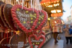 Christmas Cookies Decorations: A rack full of Christmas cookies are on display at the Christmas Markets