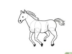 Horse drawing steps image titled draw a horse step horse pencil drawing tutorial Horse Pencil Drawing, Pencil Drawing Tutorials, Pencil Drawings, Entertainment Center Makeover, Image Title, Drawing Lessons, Step By Step Drawing, Colored Pencils, Moose Art