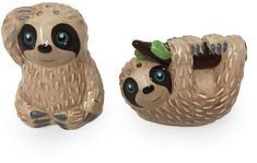 Sloth Salt & Pepper Shaker Set #sloth #saltandpeppershakers #collectible #ad