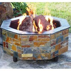 """Warming Trends FO54NG 54"""" Octagon Fire Pit Kit – The Fire Pits Store"""