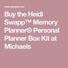 Buy the Heidi Swapp™ Memory Planner® Personal Planner Box Kit at Michaels