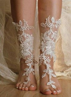 Barefoot sandals are the most practical wedding shoe option when having a beach wedding.Beach Wedding Barefoot Sandals are great for your unique wedding theme! Simple and sexy barefoot sandals but… Bridal Shoes, Wedding Shoes, Dream Wedding, Wedding Day, Wedding Dresses, Diy Wedding, Lace Wedding, Viking Wedding Dress, Bridal Sandals