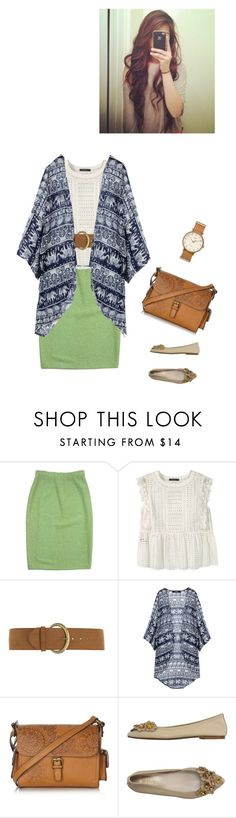 """Spring causal"" by annalisa-victoria-morehouse ❤ liked on Polyvore featuring St. John, Violeta by Mango, Dorothy Perkins, Mantaray, Vintage Del Forte and Timex"