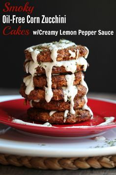Finally! You can eat a zucchini cake without oil or frying them. There are a bazillion zucchini cake or fritter recipes online, but they all have oil in them or are fried in oil. Guess what? You do...
