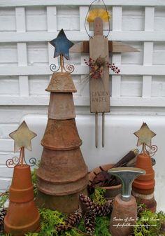 Flower Pot Trees (Garden of Len & Barb Rosen) ourfairfieldhomea... by essie