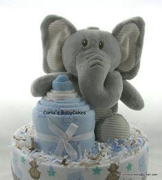 Elephant diaper cake Boy diaper cake Baby shower