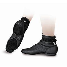 """Sansha Adult \""""Soho-leather\"""" Lace-up Jazz Boot Shoes"""