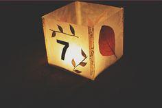 DIY: illuminated table numbers