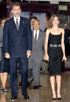 King Felipe VI of Spain and Queen Letizia of Spain attend the 'XXV Musical Week' closing concert at the Principe Felipe Auditorium during the 'Princess of Asturias 2016 Awards on October 20, 2016 in Oviedo, Spain.