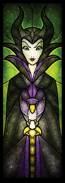 The Evil Fairy (Stained Glass)