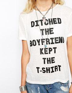 Minkpink Ditch The Boyfriend T-Shirt