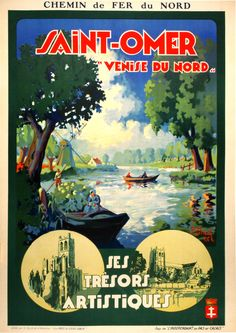 1926 Saint-omer, France vintage travel poster