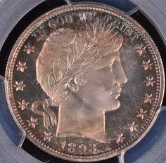 Rare Coin Wholesalers has this item on Collectors Corner - 1893 25C PR68CAM PCGS