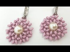 beaded earrings how to make Bead Jewellery, Seed Bead Jewelry, Seed Bead Earrings, Diy Earrings, Beaded Jewelry, Handmade Jewelry, Hoop Earrings, Flower Earrings, Seed Beads