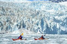 Kayaking at Aialik Glacier - Kenai Fjords National Park