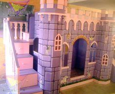kidsworld.2000@yahoo.com.mx, 01442 690 48 41... SOFISTICADO CASTILLO EN PRECIOSO COLOR MORADO, DETALLES Y RELIEVES QUE LO REALZAN PARA QUE LUZCA ASÍ DE MAGISTRAL, DIGNO DE TUS PRINCESAS. #castillo #litera #muebles para niñas #camas divertidas #camas para princesas #morado #literas para niñas #camas únicas #recamaras temáticas.