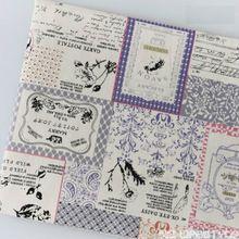 45bf8463c0 Cotone stampato Tessuto di Lino 50*145 cm retro vintage Tappezzeria legno  materiale modello in