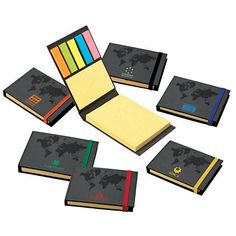 Promotional Valumark VS2510 World Design Sticky Notes Book | Customized EcoFriendly Sticky Notes | Promotional Valumark EcoFriendly Sticky Notes