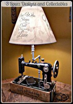 33 fantastiche immagini su lampade singer sewing machine cabinets sewing machine tables e - Tavoli per macchine da cucire ...