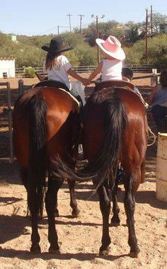 "horsey love BF's - This is what my favorite horse cousin and I ""feel like"" on the inside.:) Young forever & on a horse."