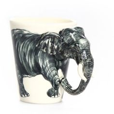 Blue Witch Ceramics: Elephant Mug ( so many cute animals to choose from)