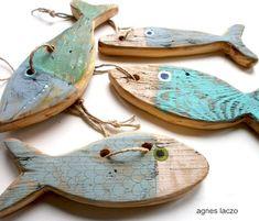 Nautical and Coastal Decor – Coastal Decor Fish Crafts, Beach Crafts, Diy And Crafts, Driftwood Fish, Driftwood Crafts, Driftwood Mobile, Lake Decor, Coastal Decor, Deco Surf