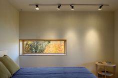 fenêtre horizontale vue du lit