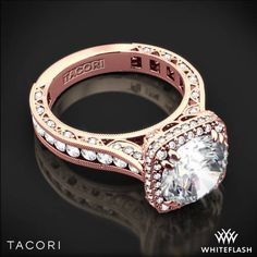 Tacori Rose Gold Engagement Rings | tacori-royalt-cushion-style-bloom_diamond-engagement-ring-in-rose-gold ...