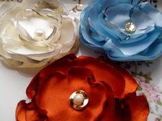 Handmade fabric flower