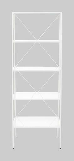 hancock white bookcase in office furniture | CB2 $200