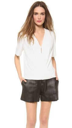 alexander wang low v neck top.