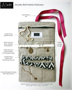 NEW Jewelry Roll  Design Your Own Gift  Tuxedo by JCarterHandmade, $49.00