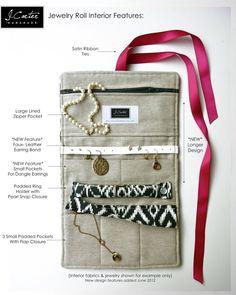 Jewelry Roll Travel Jewelry Organizer Design von JCarterHandmade
