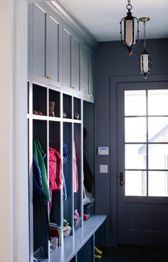 Mudroom. Mud Room. Mudroom Layout. Mudroom Paint Color. Mudroom Ideas. Mudroom Lighting. Mudroom Cabinet. Mudroom Storage. #Mudroom Jean Stoffer Design.