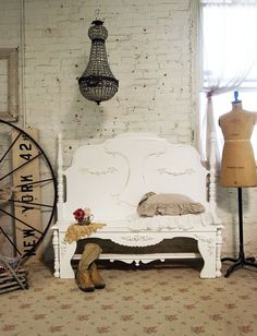Painted Cottage Chic Shabby White Handmade by paintedcottages, $225.00
