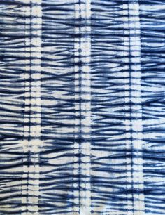 Indigo Shibori Fabric, Cotton Indigo Fabric
