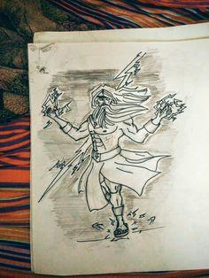 zeus sketches drawing