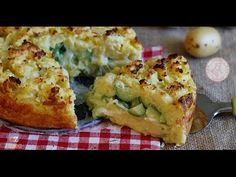 SBRICIOLATA DI PATATE salata zucchine e formaggio