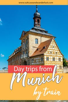 The best day trips from Munich Germany by train. Discover the most beautiful cities around Munich including the famous sight Neuschwanstein Castle New Travel, Shopping Travel, Travel Europe, Budget Travel, Beach Trip, Beach Travel, Tourist Map, Neuschwanstein Castle, By Train