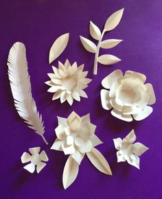 Paper flower templates and tutorial by happythought.co.uk