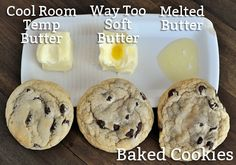 The Great Cookie Experiment: Butter Temperature Have you ever wondered if butter temperature matters when it comes to making the perfect batch of cookies? If so, check out this post! Chip Cookie Recipe, Easy Cookie Recipes, Sweet Recipes, Cookie Tips, Köstliche Desserts, Delicious Desserts, Dessert Recipes, Yummy Food, Baking Tips
