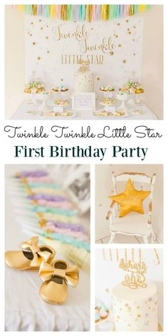 A twinkle twinkle little star party is perfect for a girls first birthday. This is one of those enchanting themes that your little girl will sparkle with. With ideas for party food and decoration, you don't need to look any further to organize that perfec
