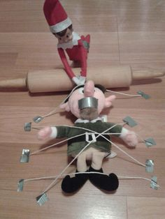 THERE CAN ONLY BE ONE ..ELF ON THE SHELF....YOU ARE DONE FAKE ELF ;)