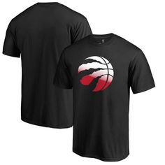 Toronto Raptors Fanatics Branded Gradient Logo T-Shirt - Black