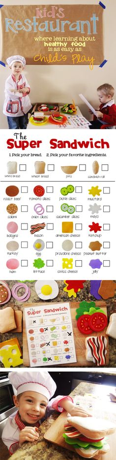 Looking to teach your kids about nutrition? Try setting up a kid's restaurant with these printable menus!