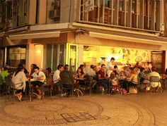 This is why I would go to Italy - for pizza on these lovely streets, this one in Nicosia