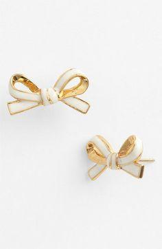 kate spade new york 'skinny mini' bow stud earrings   Nordstrom