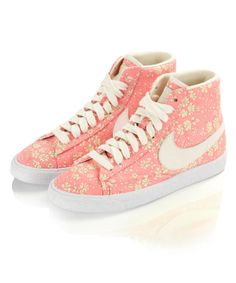 Capel Liberty Print Blazer Mid Rise Trainers